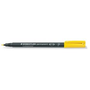 Marker permanent Staedtler Lumocolor galben F 0.6mm ST-318-1