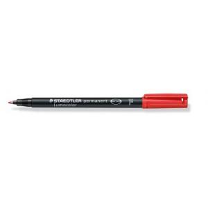 Marker permanent Staedtler Lumocolor rosu F 0.6mm ST-318-2