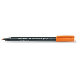 Marker permanent Staedtler Lumocolor portocaliu F 0.6mm ST-318-4