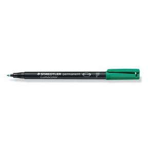 Marker permanent Staedtler Lumocolor verde F 0.6mm ST-318-5