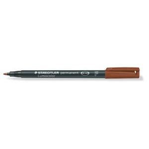 Marker permanent Staedtler Lumocolor maro F 0.6mm ST-318-7
