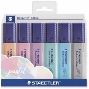 Set textmarker Staedtler varf tesit 1-5mm Classic,6 culori ST-364-C-WP6-PA