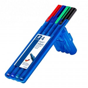 Pix Staedtler Triplus M 4 culori/ set ST-437-M-SB4