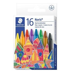 Creioane colorate cerate 8mm Staedtler Noris 16 culori / set ST-220-NC16