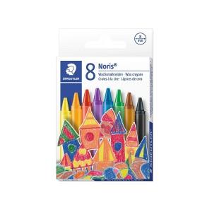 Creioane colorate cerate 8mm Staedtler Noris 8 culori / set ST-220-NC8