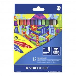 Carioca Staedtler Noris 1MM 12 culori/set cutie carton ST-325-C12