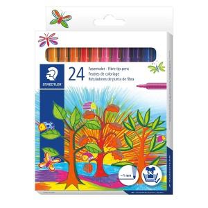 Carioca Staedtler Noris 1mm 24 culori/set cutie carton ST-325-C24