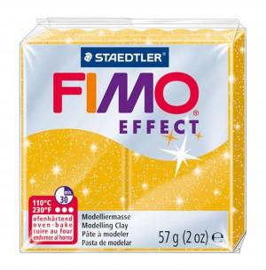 Lut polimeric Fimo Effect pentru modelaj Gold Glitter STH-8020-112