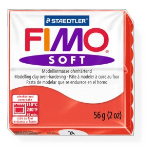 Lut polimeric Fimo Soft pentru modelaj 8020-Indian red