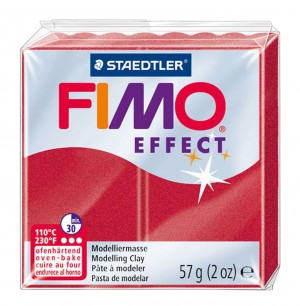 Lut polimeric Fimo Effect pentru modelaj 8020-Ruby Red