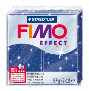Lut polimeric Fimo Effect pentru modelaj Blue Glitter STH-8020-302