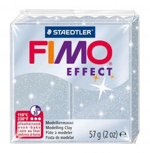 Lut polimeric Fimo Effect pentru modelaj Silver Glitter STH-8020-812