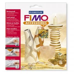Fimo foite metal galben auriu 14X14 cm, 7 Buc/Set STH-8780-99