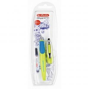Stilou My Pen penita M pentru stangaci albastru/ neon 10999829