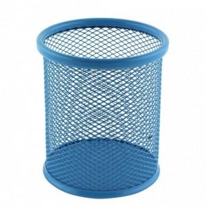 Suport birou cilindric albastru Ecada 95001A