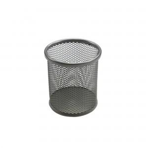Suport birou cilindric argintiu Ecada 95001AG