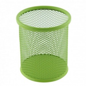 Suport birou cilindric verde Ecada 95001V