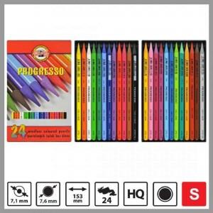 Set creioane fara lemn Progresso 24 culori/set K8758-24