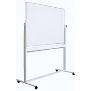 Tabla magnetica (whiteboard) Optima cu fata dubla rotativa  profil aluminiu 90x120cm OP-25090120