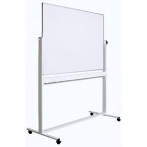 Tabla magnetica (whiteboard) Optima cu fata dubla rotativa  profil aluminiu 100x150cm OP-25100150