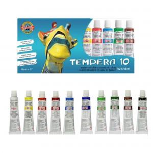 Tempera Koh-i-noor 16ml 10 culori/set Girafa K162548G