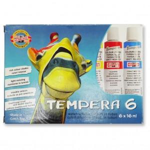 Tempera Koh-i-noor 16ml 6culori/set Girafa K162547G