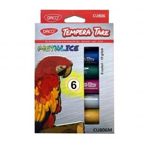 Culori Tempera Tare Metalica 6 culori Daco CU806M
