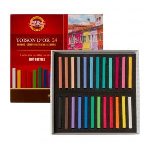 Set creta uscata patrata Toison D`Or 24 culori/set K8584-24