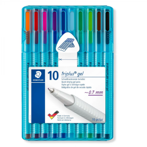 Set Roller Triplus Gel Clasic Staedtler 0.7mm 10culori/set ST-462-SB10