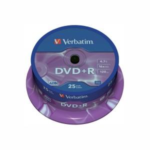 DVD+R Verbatim 16X 4.7GB 25 bucati / box VER43500