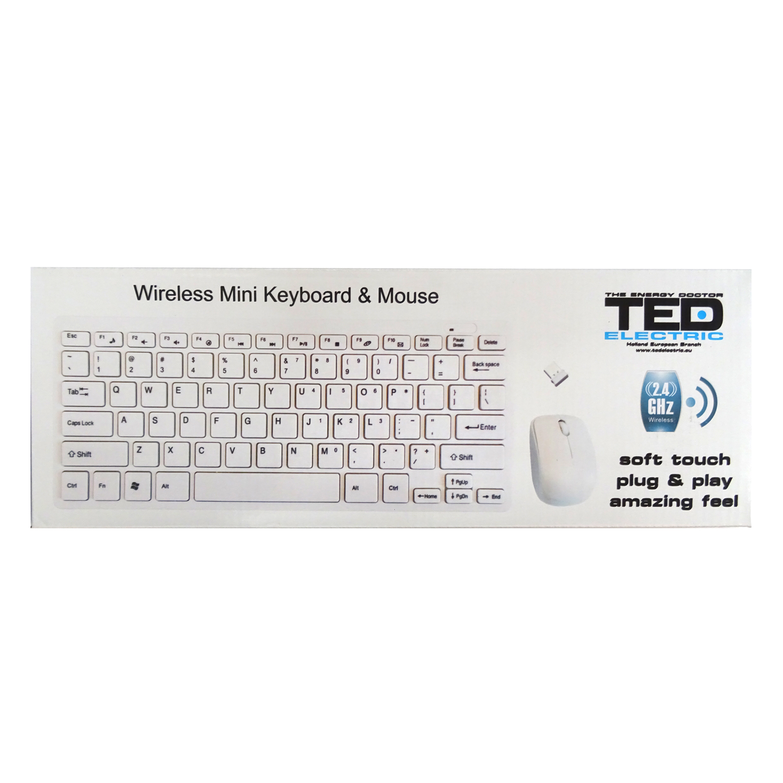 Tastatura mini wireless + mouse Ted Tdm 10 606076
