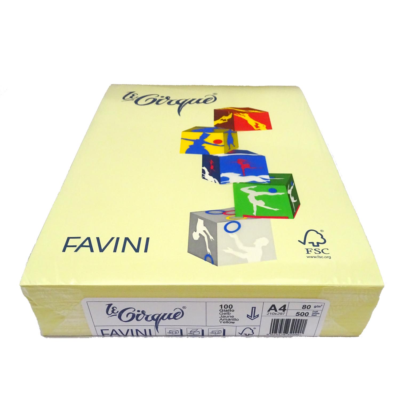Hartie copiator A4 colorata 80G/MP galben deschis favini FAV10080