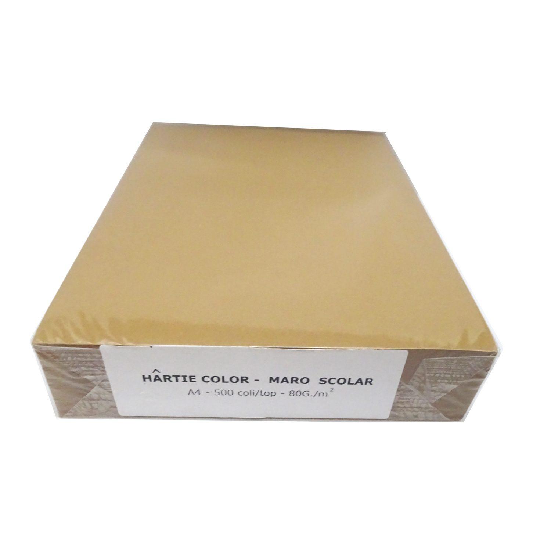 Hartie A4 colorata Daco 80g/mp 500 coli/top maro inchis 5008