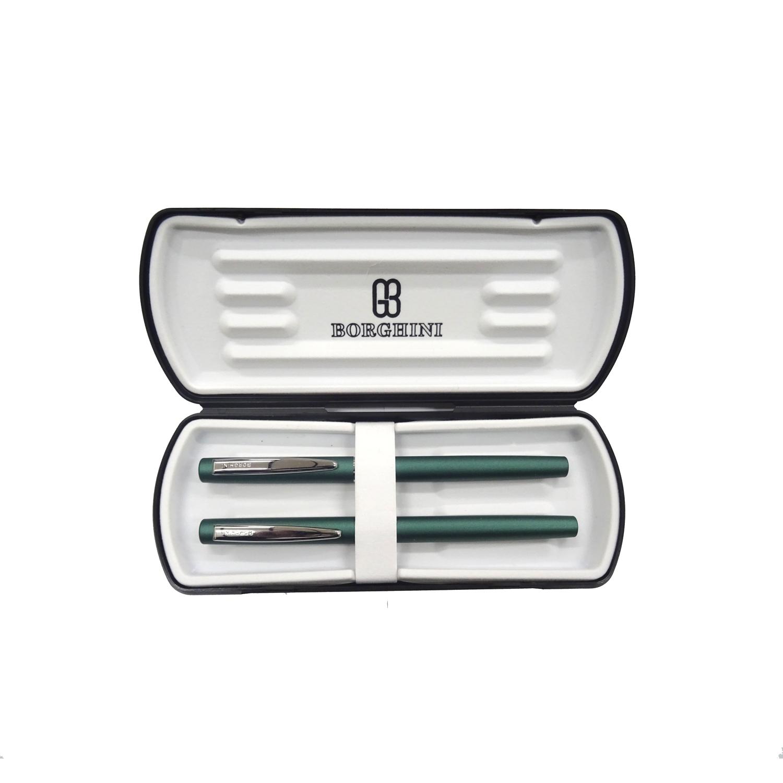 Set Borghinii v66 stilou si pix verde metalizat in cutie 1007455