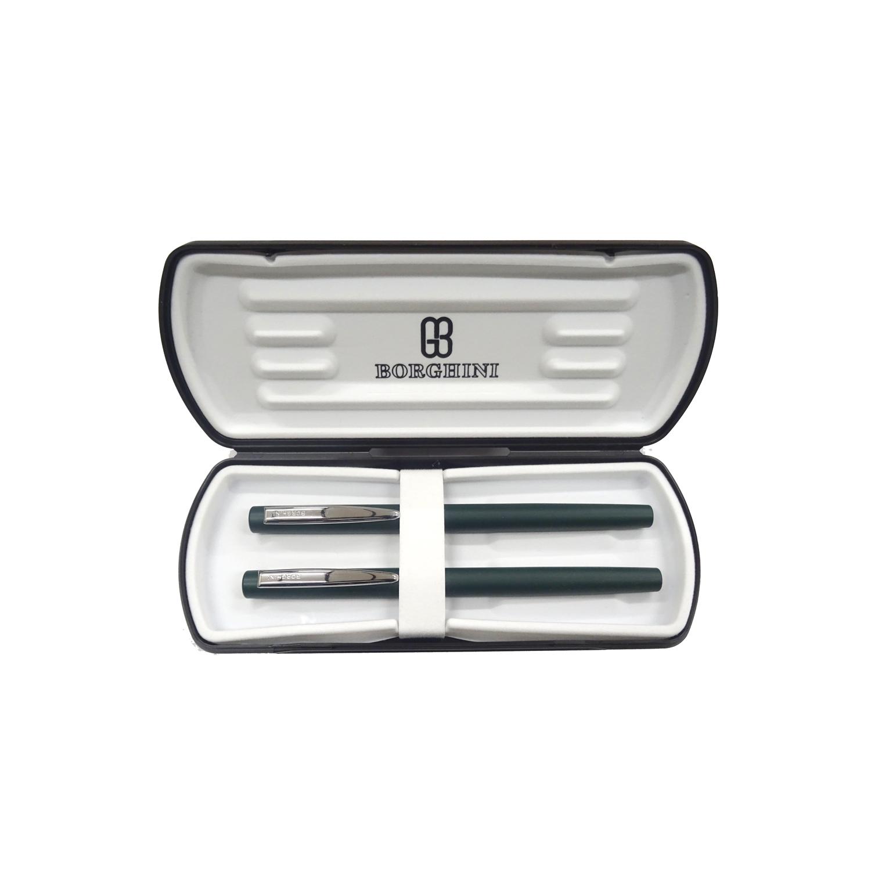 Set Borghinii v66 stilou si pix verde mat in cutie 1007453