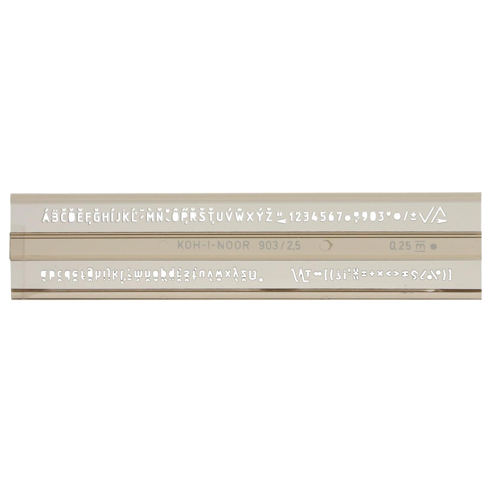 Sablon Koh-I-Noor litere si cifre 2.5 mm KH748031