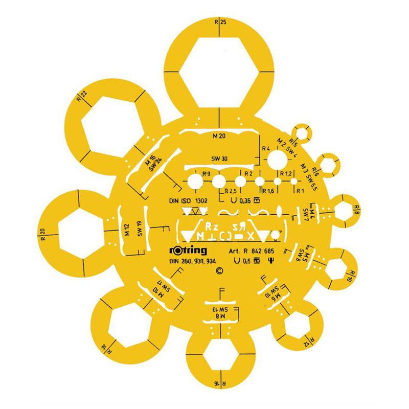 Sablon Rotring piulite S0238391