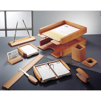 Set birou lux din lemn de cires, 8 piese 0293DDY