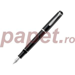 Stilou classic Pelikan P205 F negru cu patron 930735