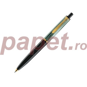 Pix classic Pelikan K200 negru cu vberde marmor si accesorii placate cu aur 987727