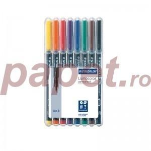 Set markere Lumocolor Staedtler 0.4 mm S permanent 8 culori ST-313-WP8