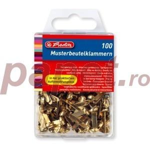 Cleme metalice pentru documente Herlitz 100 bucati / cutie 8770307