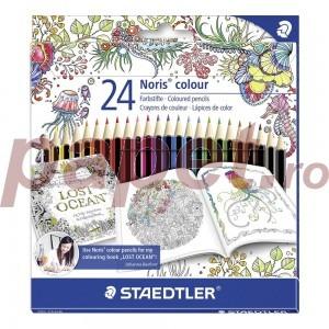 Creioane color Staedtler Noris colour 24 culori din material WOPEX ST-185-C24JB