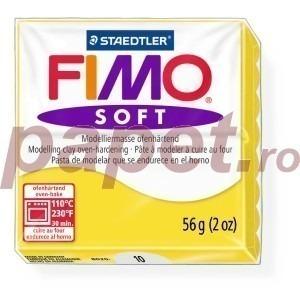Lut polimeric Fimo Soft pentru modelaj 8020-Lemon