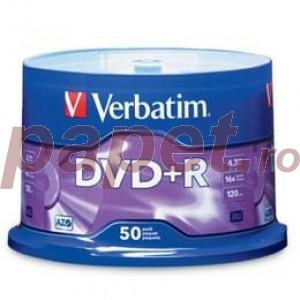 DVD+R Verbatim 16X 4.7GB 50 bucati / box VER43550