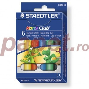 Plastilina 6 culori / set Staedtler ST815NC6