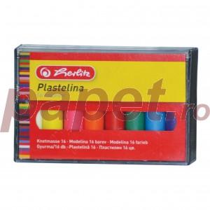Plastilina 16 culori cutie plastic Herlitz  9562935