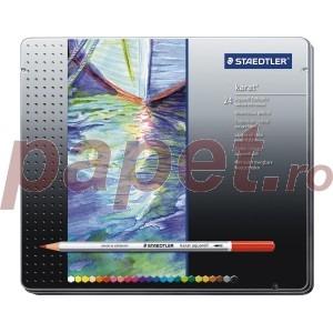 Creioane colorate Staedtler 24 culori / set karat aquarel STH-125-M24