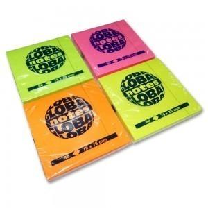 Notes adeziv 75x75 mm culori fluorescente E642P