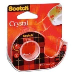 Scotch cristal 3M 19 mm x 7.5 m cu suport 3M-144